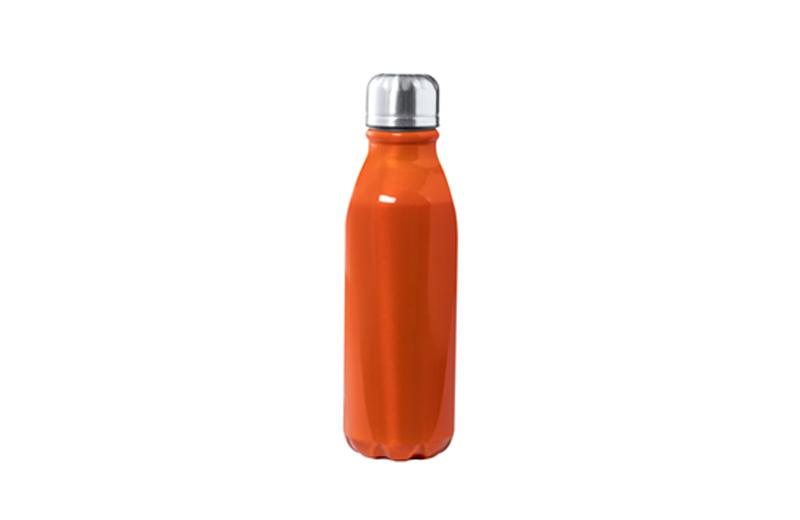 Alu-Trinkflasche BUDGET orange Werbeartikel