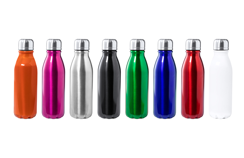 Klassische Alu-Trinkflasche BUDGET in 8 Farben