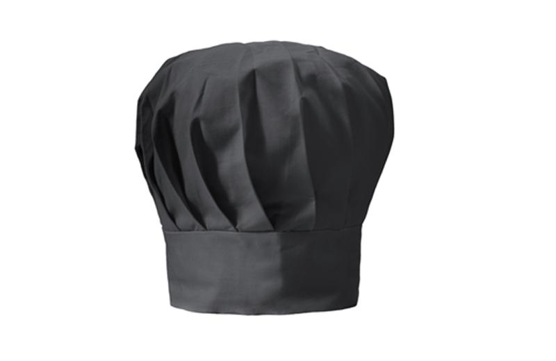 Kochmütze zum bedrucken - schwarz
